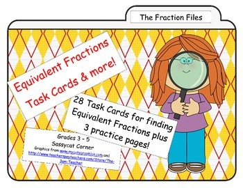 Equivalent Fraction Task Cards