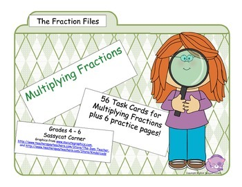 Fraction Files - Multiplying Fractions Task Cards