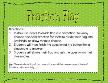 Fraction Flag Activity