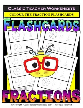 Fraction Flashcards - Basic Fraction Facts 1/1 to 9/9 - Co