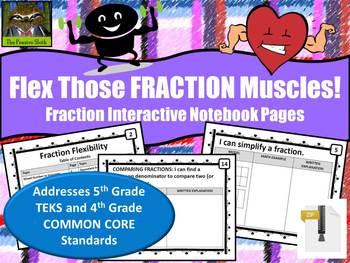 Fraction Flexibility--Interactive Math Notebook Pages (TEK