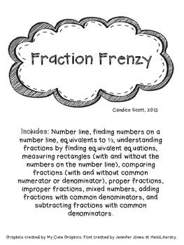 Fraction Frenzy - Common Core