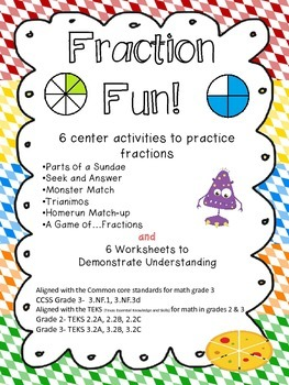 Fraction Fun- Center Activities and Worksheets