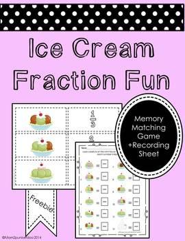 Fraction Fun: Ice Cream Sundae Matching Game