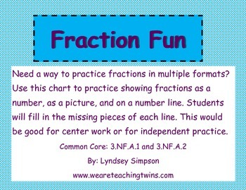 Fraction Fun: pictures and number lines