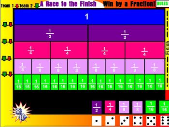 Fraction Game- A Race to the Finish