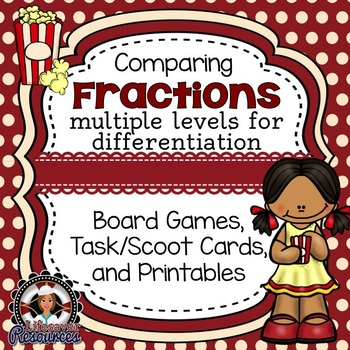 Fractions Games (Comparing) and Printables / Worksheets