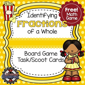Fraction Game - Identifying fractions of a whole - FREE