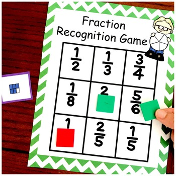 Fraction Game With Three Levels - Recognition, Equivlalent