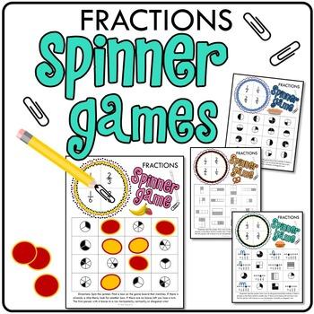 Fractions Spinner Games