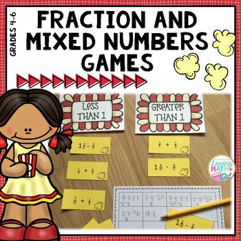 Fraction Games Center Activities