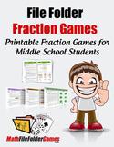 File Folder Fraction Games: Fun Printable Fraction Games