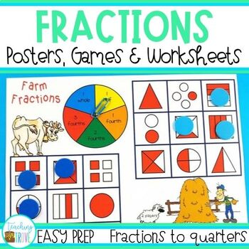 Fraction Games, Activities, Worksheets and Posters