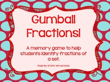 Fraction Gumball Memory Game