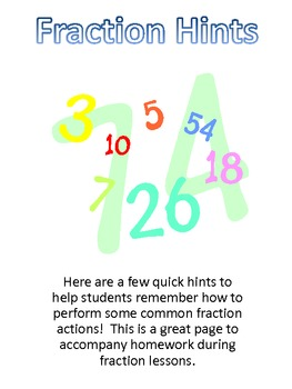 Fraction Hints