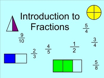 Fraction Introduction SMARTnotebook