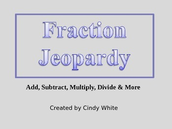 Fraction Jeopardy