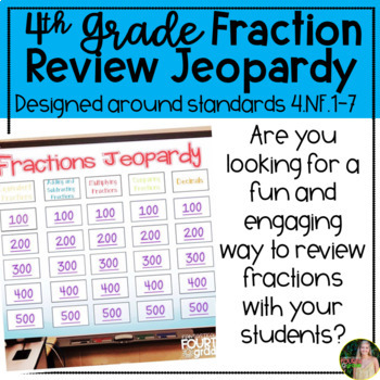 Fraction Review Jeopardy- 4th Grade