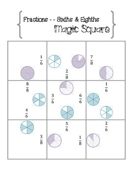 Fraction Magic Square: Sixths and Eighths