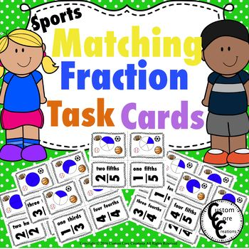 Fraction Matching Sports Theme