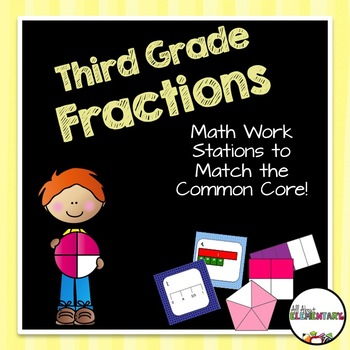 Fraction Math Work Stations