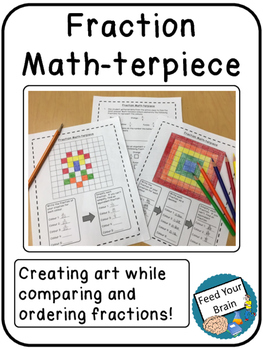 Fraction Math-terpiece - Writing, Ordering and Comparing F