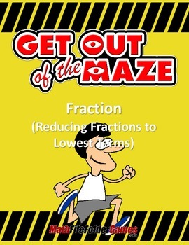 Fraction Maze - Reducing Fractions to Lowest Terms
