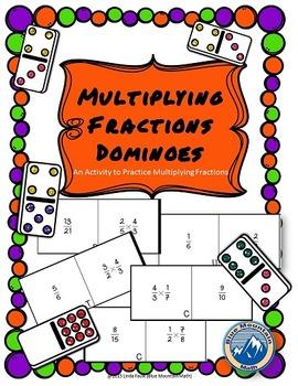 Fraction Multiplication Domino Set