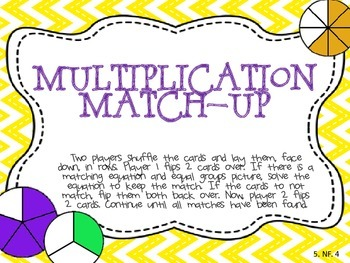 Fraction Multiplication Match