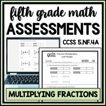 Fraction Multiplication with Models Quiz, 5.NF.4A Assessme