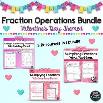 Fraction Operations Bundle - Valentine Themed