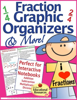 Fractions - Graphic Organizers, Interactive Notebook, Guid