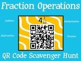 Fraction Operations QR Code Scavenger Hunt