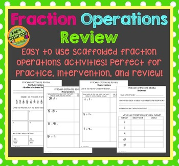 Fraction Operations Review - Practice work for Fractions a