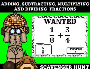 Fraction Operations Scavenger Hunt