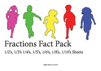 Fraction Pack 1/2's, 1/3's 1/4's, 1/5's, 1/6's, 1/8's, 1/1