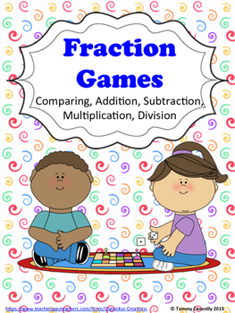 Fraction Partner Games Dice or Cards: compare, add, subtra
