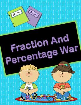 Fraction/Percentage War Game Template