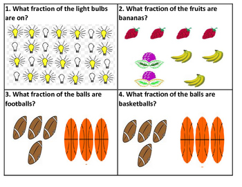 Fraction Picture Task Cards (24 Cards)