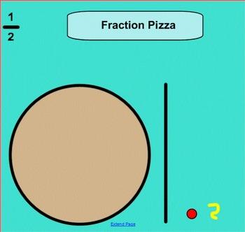 Fraction Pizza 1/2 1/4