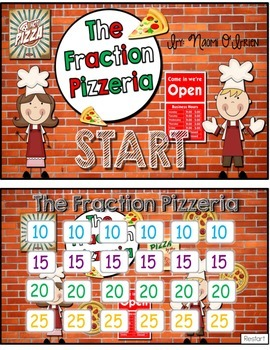 Fraction Pizzeria Jeopardy-Style Fraction Game