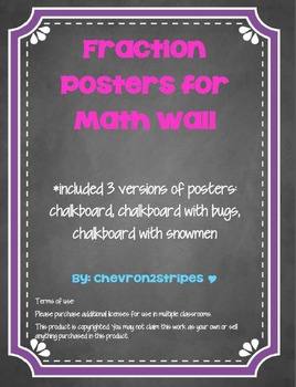 Fraction Posters for Math Wall