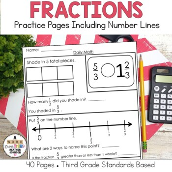 Fraction Practice: Comparing Fractions, Number Line, Mixed