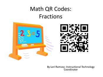 Fraction QR Codes - Grades 4-5