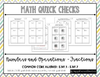 Fraction Quick Checks (5th Grade Common Core Aligned Assessments)