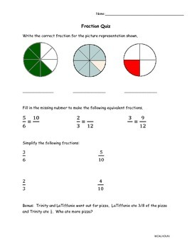 Fraction Quiz