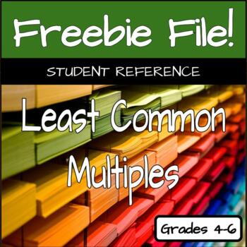 Fraction Reference - Least Common Multiples & Greatest Com