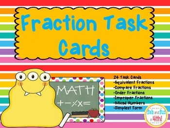 Fraction Review Task Cards