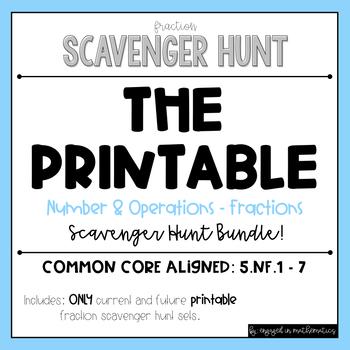 Fraction Scavenger Hunt BUNDLE (Includes all 9 sets!)