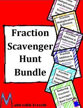 Fraction Scavenger Hunt Bundle